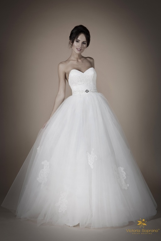 Свадебные платья низ фатин